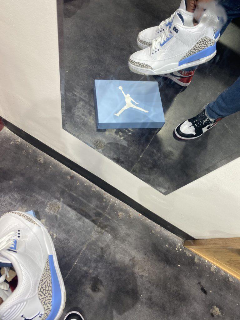 Jordan 3 UNC Carolina Blue